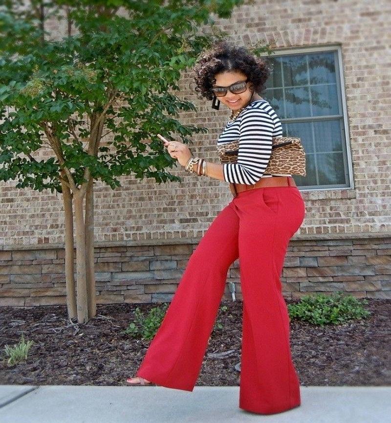 best women red pants