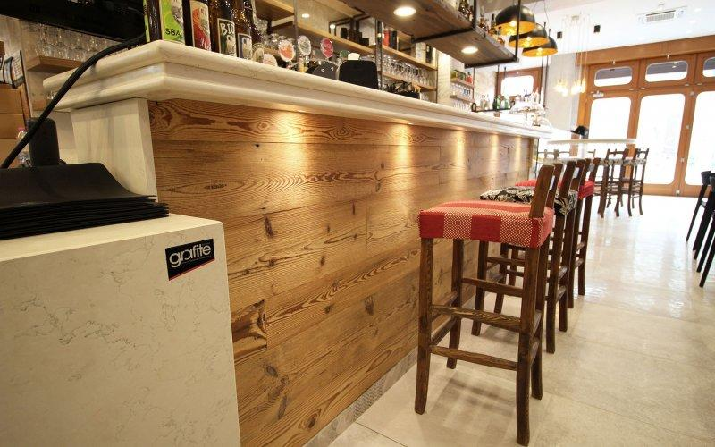 the rustic wooden bars