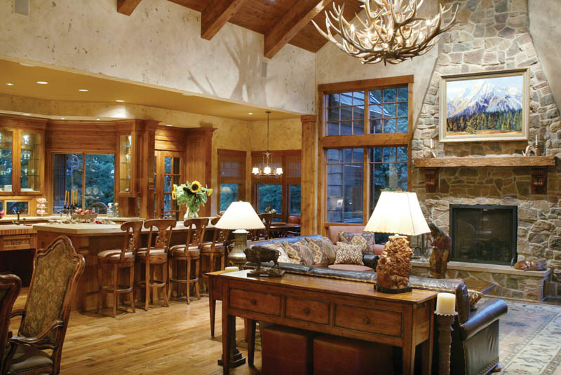 example rustic wooden bars