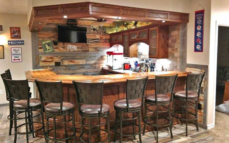 discover rustic wooden bars