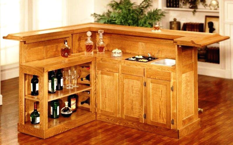 rustic wooden bars