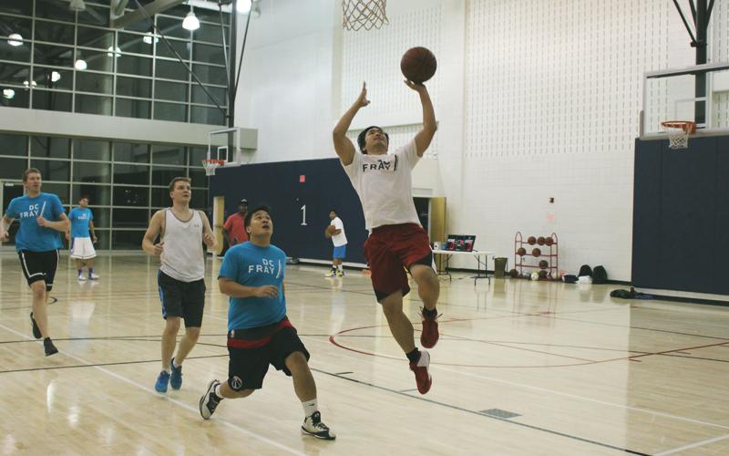 the mini basketball