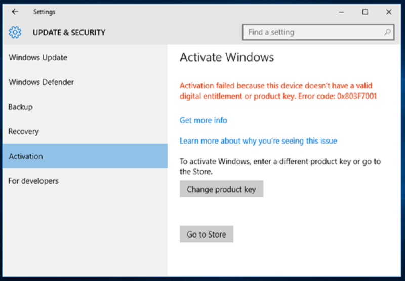 remove windows 10 activation