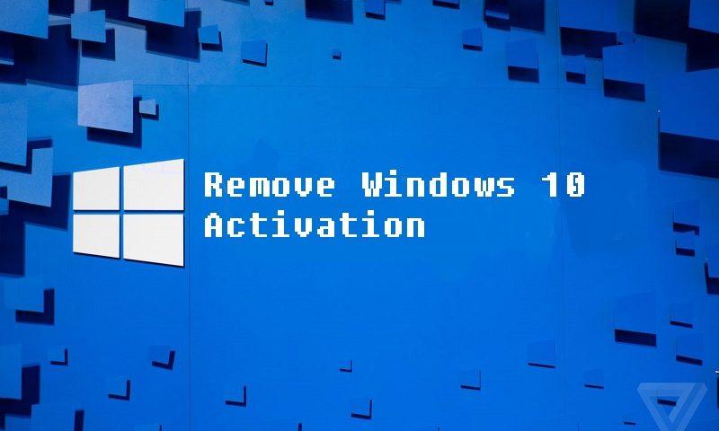remove windows 10 activation