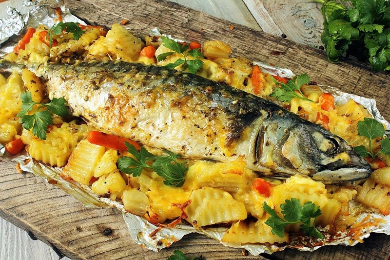 Pelengas Fish Baked In The Oven