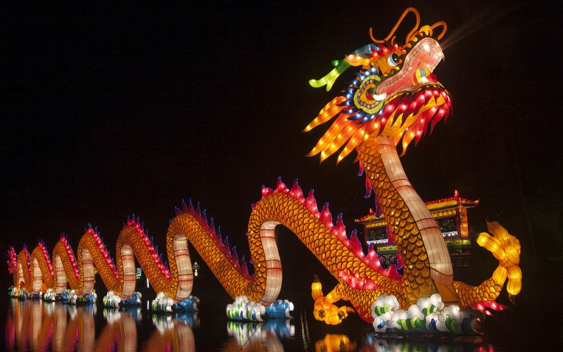 the New Year's traditions in China