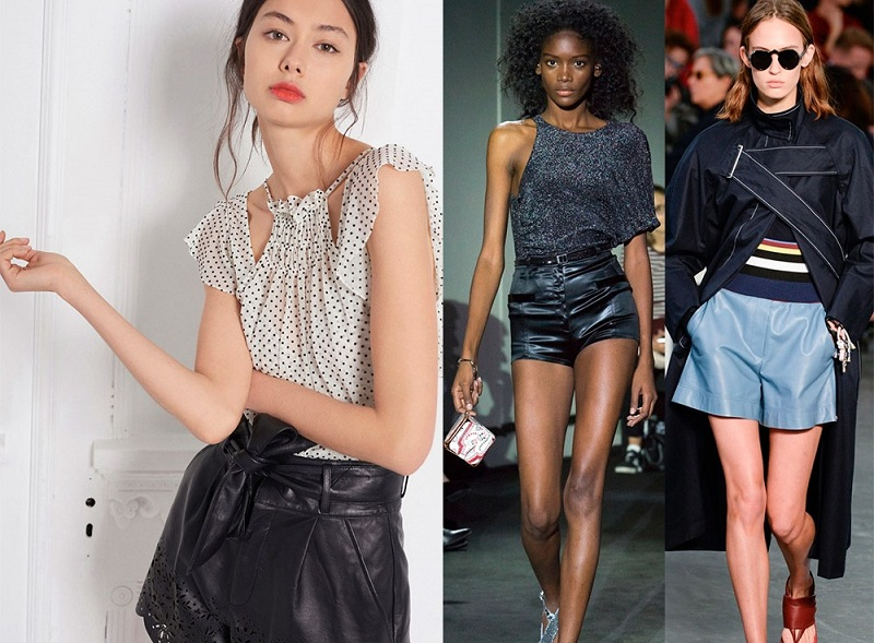 What To Wear Leather Shorts In Autumn And Winter