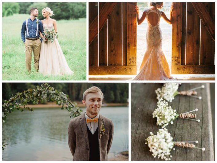 Rustic Style In Wedding Decoration